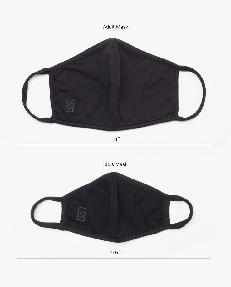 Face Mask (Black - 5 Pack)