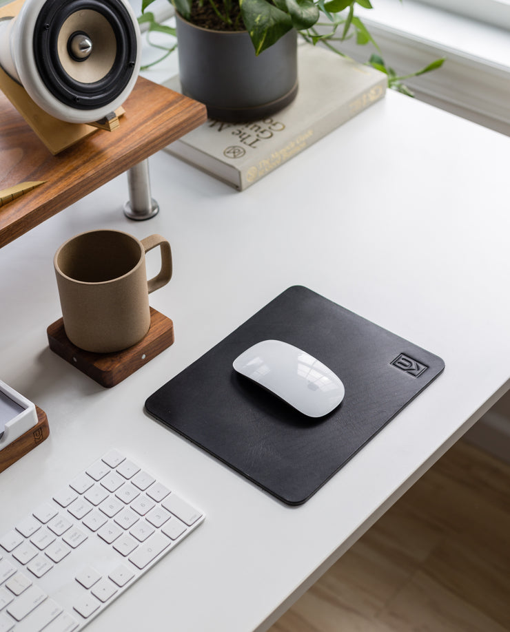 Premium Leather Mousepad (Ugmonk Logo - Black)