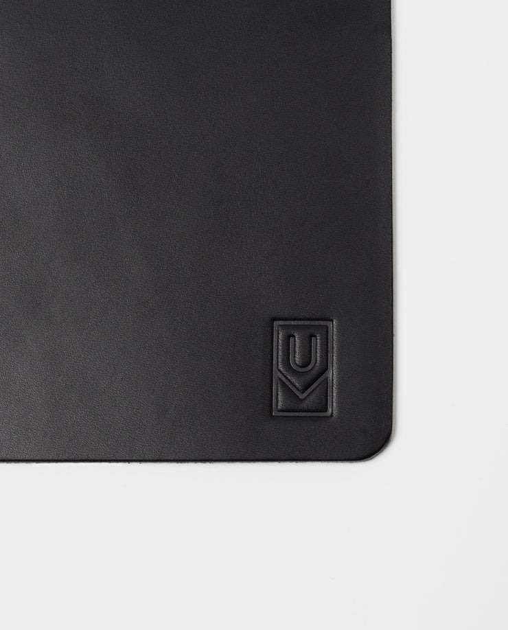 Premium Leather Mousepad XL (Ugmonk Logo - Black)