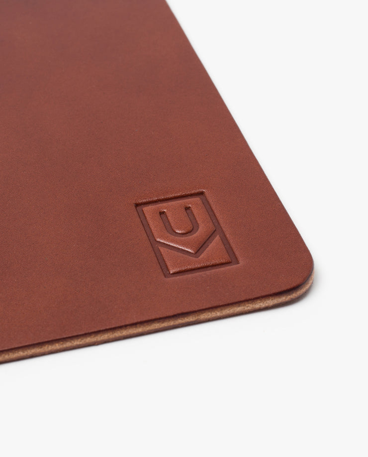 Premium Leather Mousepad (Ugmonk Logo - Brown)