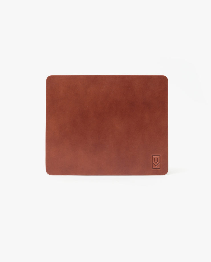 Premium Leather Mousepad XL (Ugmonk Logo - Brown)