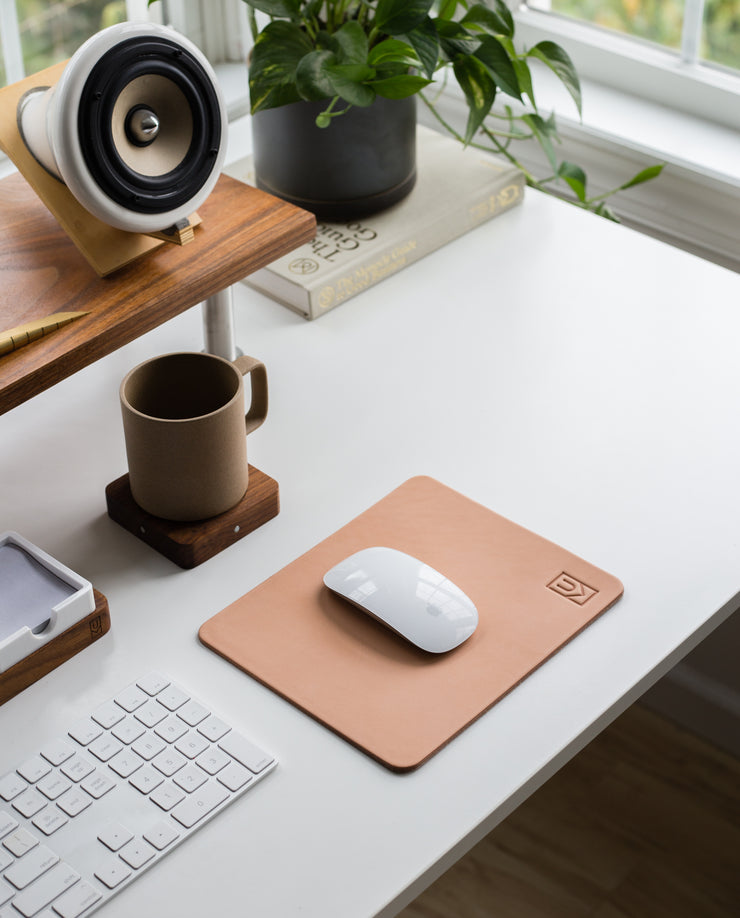 Premium Leather Mousepad (Ugmonk Logo - Natural)