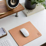 Premium Leather Mousepad XL (Ugmonk Logo - Natural)
