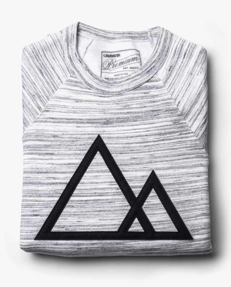 Mountains Crewneck (Marbled Gray)