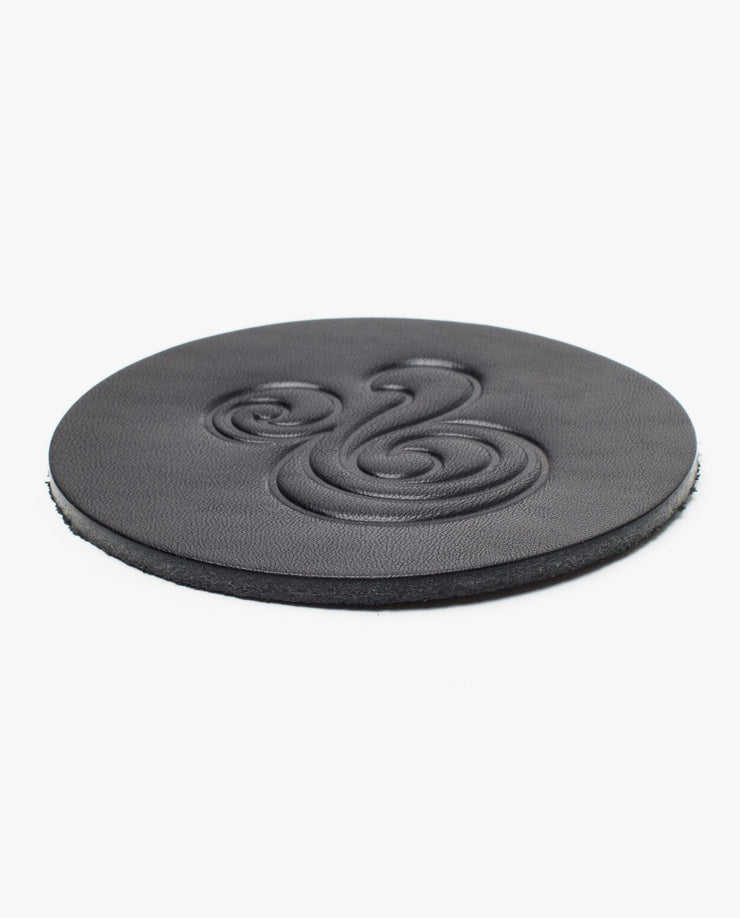 Leather Coasters (Ampersand - Set of 2 - Black)