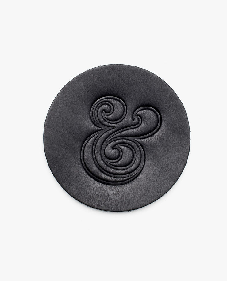 Leather Coasters (Black - Set of 4)