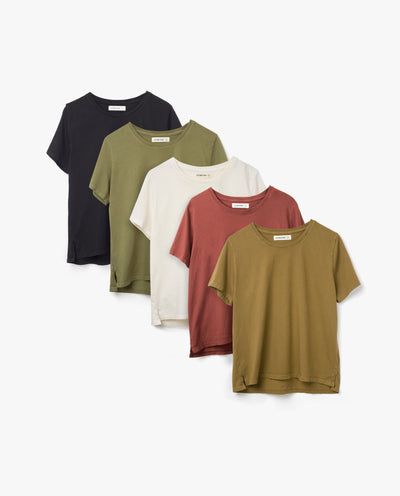 Women's Essential Tee (Standard Fit - 5 Pack)