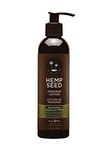 Earthly Body Hemp Seed Massage Body Lotion (8 Fl. Oz.) - Guavalava