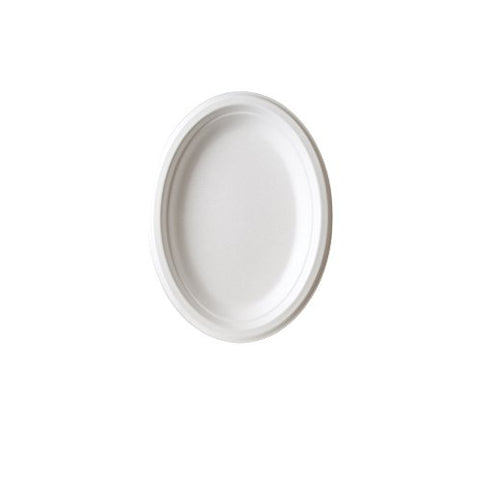 Eco-Products - Renewable & Compostable Sugarcane Plates - 10In X 7In Disposable Dinner Plates - (10 Packs Of 50) Ep-P009