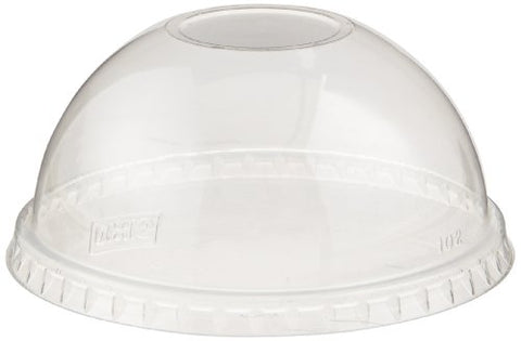 Dixie Df1420 Plastic Dome Lid Without Straw Hole, Fits 9 Oz., 14 Oz., And 20 Oz. Dixie Plastic Cold Cups, Clear (20 Sleeves Of 50)