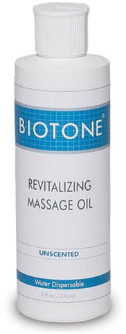 Biotone Revitalizing Unscented Massage Oil, 8 Ounce