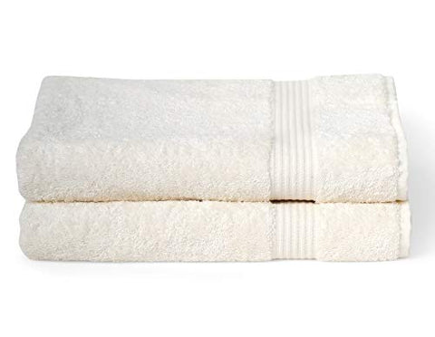 Towelselections Sunshine Collection Soft Towels 100% Turkish Cotton 2 Bath Towels Ivory