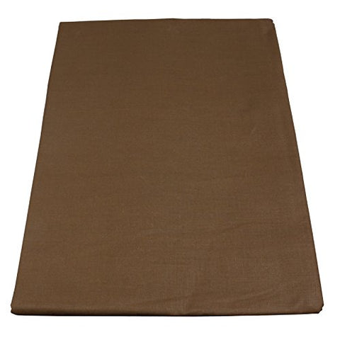 Body Linen Simplicity Poly Cotton Flat Sheet, Chocolate