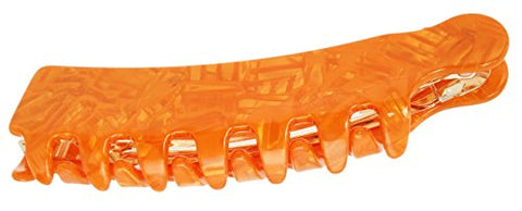 France Luxe Large Teeth Cascade Clip - Flake Orange