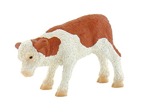 Bullyland Calf Fridolin In Brown/White Action Figure