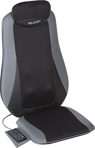 Relaxzen Tapping, Rolling, And Shiatsu Full Seat Massager With Heat, Black/Dark Gray