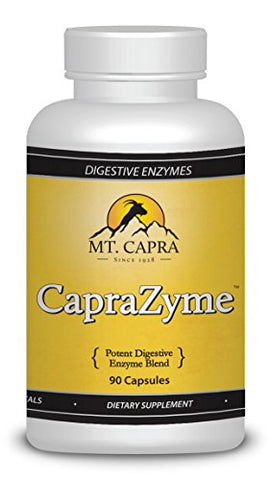 Digestive Enzymes By Mt. Capra | Caprazyme Vegetarian Enzyme Supplement For Men And Women, Amylase, Lipase, Bromelain, Protease, Cellulase With Botanical Blend Grapefruit, Ginger, Turmeric | 90 Pills
