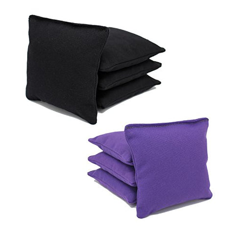 Aca Regulation Cornhole Bags (Set Of 8) (Black And Purple)