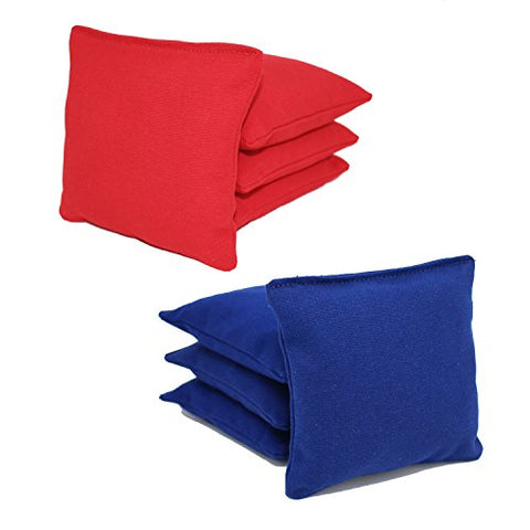 Aca Regulation Cornhole Bags (Set Of 8) (Royal And Red)
