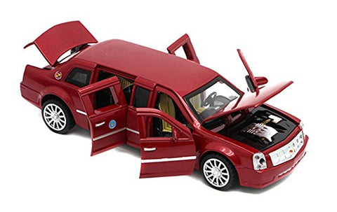 Berry President(Tm 1:32 Presidential Limos 2009 Cadillac Limousine Car Electric Toy Sound &Amp; Light - Birthday (Red)