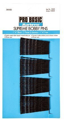 Marianna Supreme Bobby Pins - 60 Per Card, Black