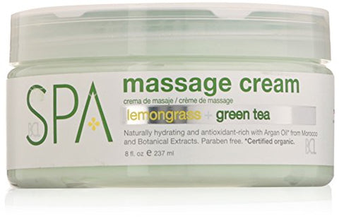 Bcl Spa Lemongrass And Green Tea Massage Cream, 8 Ounce