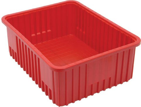 Quantum Storage Dg93080Rd Dividable Grid Storage Container, 22-1/2  L X 17-1/2  W X 8  H, Red