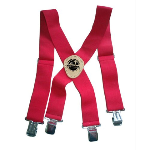 Graintex Es1495 Red Color Elastic Suspenders