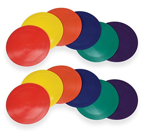 American Educational Products Marker Rounds, 9 , Assorted Colors, 2 Sets Of 6 (12 Pieces)