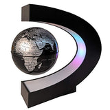 Teamax Floating Globe With Led Lights,C Shape Magnetic Levitation Globe, World Map For Desk Decoration, Fathers Students Teacher Birthday Gift