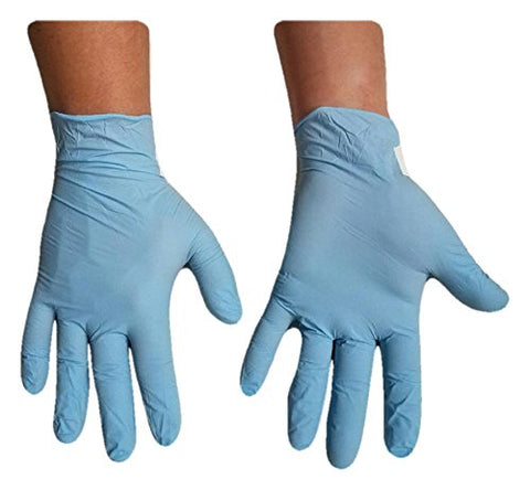 Proces Nitrile - Box Of 100 - Powder Free - Blue Disposable Gloves (Large)