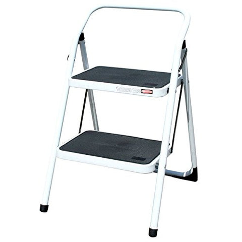 Amerihome Steel Frame Two-Step Black/White Utility Stool