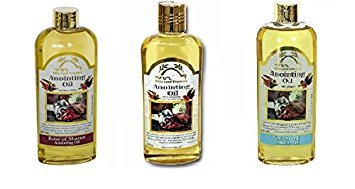 Bible Lands Treasure Anointing Oil 250 Ml, Set Of 3: Spikenard, Rose Of Sharon, Myrrh&Amp;Frankincense&Amp;Spikenard