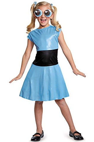 Bubbles Classic Powerpuff Girls Cartoon Network Costume, Medium/7-8