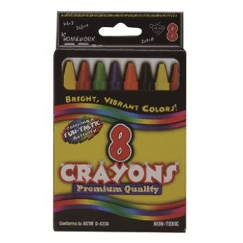 Ddi Bulk Crayons Assorted Colors - 8 Count Boxed