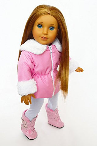 My Brittany'S Pink Parka With Boots For American Girl Dolls