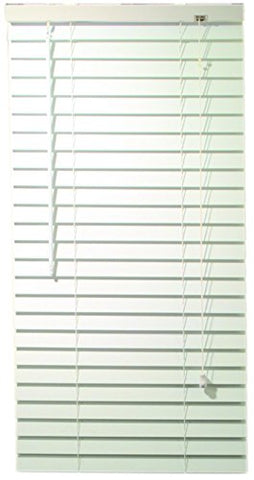 Designer'S Touch 2464688 2-Inch Faux Wood Blind Crown Valance, 32 X 60 X 2-Inch, White
