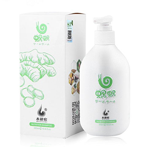 Wo Wo Natural Pure Ginger Shampoo 10.14Oz,Protect The Scalp And Effective Anti-Dandruff, To Prevent Hair Loss And Broken Hair.