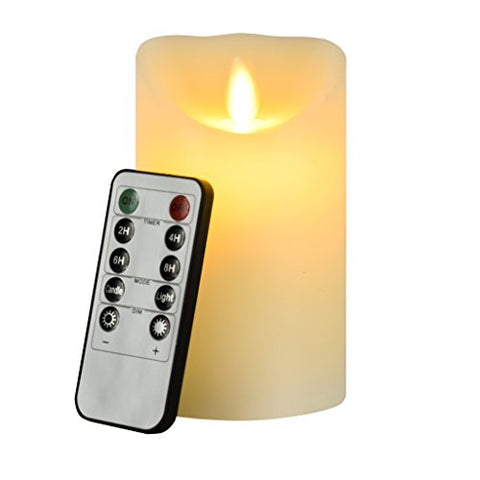 Flameless Candle, Eyourlife Led Candles 4 Inch Flameless Candles Ivory Christmas Candle Electric Flameless Flickering Candle Remote Control With Timer Battery Operated Pillar Candles