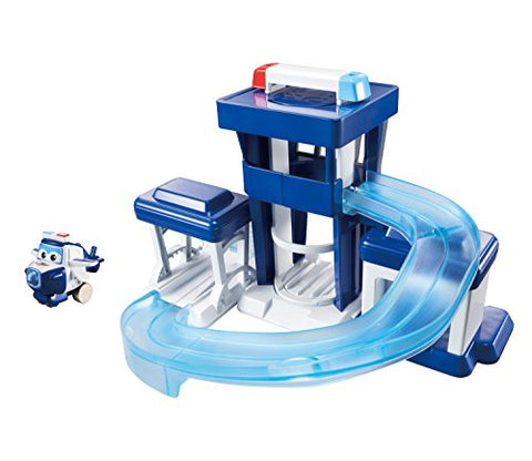 Super Wings -  Pauls Police Station Toy Playset |Includes Paul Figure | Pop 'N Transform Scale