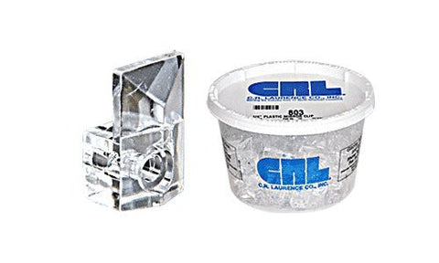 Crl 1/4 Plastic Square Mirror Clips By Cr Laurence