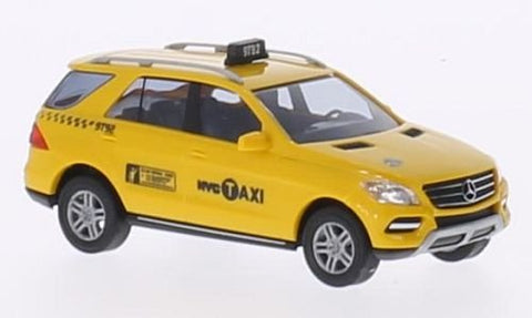Mercedes M-Class, Nyc Taxi , 2011, Model Car, Ready-Made, Busch 1:87