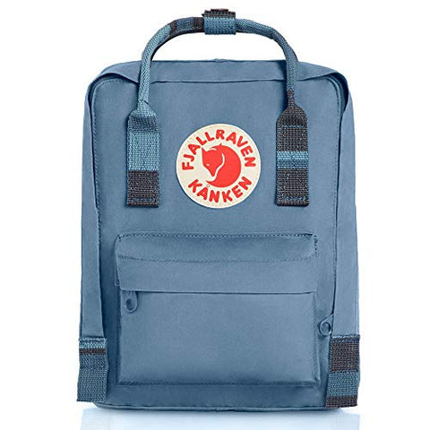 Fjallraven - Kanken Mini Classic Backpack For Everyday, Blue Ridge-Random Blocked