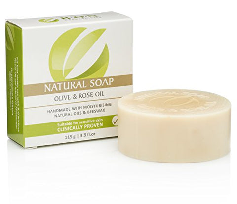 B.O.N Skincare Natural Olive &Amp; Rose Oil Soap Handmade With Moisturizing &Amp; Essential Oils, 3.9 Fl.Oz, 115G