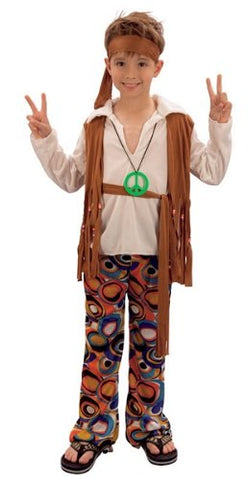 Extra Large Children'S Hippy Boy Costume