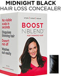 Boostnblend Black Hair Loss Scalp Concealer For Women With Thinning Hair. Use As Fill In Powder, Hair Filler, Best Female Hair Thickening Fibers. Get Your Confidence Back! 22G/0.78Oz