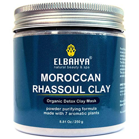 All Natural Rhassoul Clay Powder Hair &Amp; Face Mask (Ghassoul) - Cruelty-Free Detoxifying Organic Rasul Clay, Deep Pore Facial Cleanser &Amp; Pore Minimiser, Improves Skin Clarity &Amp; Elasticity