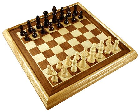 Da Vinci Imports 16  Deluxe Inlaid Wood Chess Set W/Pieces