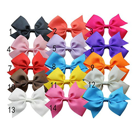 Bzybel Boutique Baby Girls Kids 3Inches Hair Bows Clips Grosgrain Ribbon Barrettes Alligator Clips, Hair Accessories