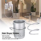 Anself Hair Dryer Holder Wall Mounted Comb Holder Rack Stand Bathroom Storage Organizer Hanger